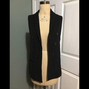 Zara Black Blazer Vest